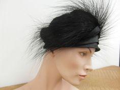 Hut-Damenhut-Antik-Design-Fascinator-Kopfschmuck-Klassiker-Hutschachtel-18d2