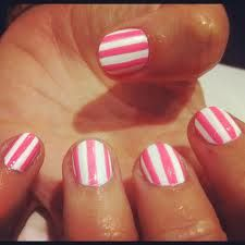Want stripes, geometrical, or chevron designs w/o using scotch tape, duck tape, or special tools. Simple solution: get dental floss! Step 1. put first coat of color on and let dry COMPLETELY. Step 2. Wrap floss up your finger to your nail 'til you have a stripe or whatever, then hold it down. Step 3. Paint over with second coat of another color and let dry, again, completely. No tape or special nail tooling at all! This method is guaranteed to work!! ;) *winky*   #Cheap, Easy Beauty :)