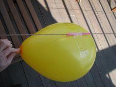 Balloon Rocket.  A balloon, string, and a straw=play heaven