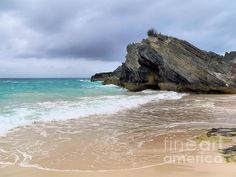 Limestone Rock on Horseshoe Beach in Bermuda