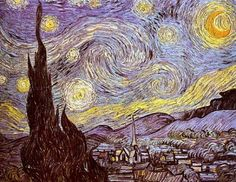 Vincent Van Gogh's Starry Night from HAED - my favorite painting would be so neat to stitch