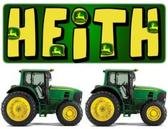 John Deere Wall Stickers Set of 5 Personalized by BabysOwn on Etsy, $18.00