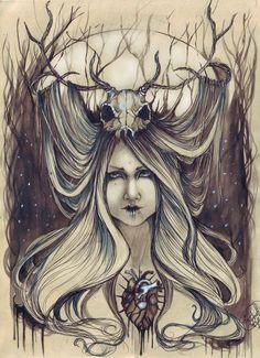 Erika Asphodel - Winter Queen - illustration - #massoneriacreativa #masonry #brotherhood - www.massoneriacreativa.com
