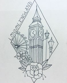 London tattoo. Travel tattoo. Big Ben tattoo.                                                                                                                                                                                 More