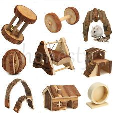 Wooden House Villa Cage Exercise Toy Hamster Hedgehog Mouse Rat Guinea Pig New