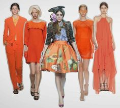 Orange Is The New Black among sustainable designers. Stay on the lookout for orange Spring 2014.