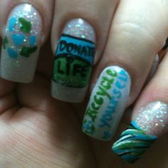Donate Life nails! Learn more about organ and tissue donation at donatelifeaz.org.