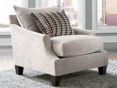 Beige arm chair, Ontario Living Room, comfortable arm chair