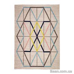 ИКЕА ПС 2014 Ковер соткан, флет, многоцветный, (128*180 см) 702.647.28