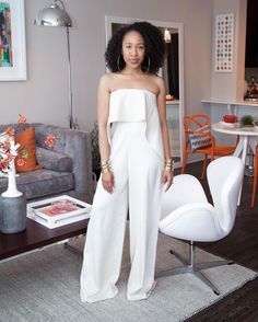 Wedding guest  or rehearsal dinner  or wedding change? Either way we are loving all this #jumpsuit worn by @mattieology is serving! Where would you wear it to?  #munafashion #Repost @mattieologie  What I would've worn to Solange's wedding. : @cookayemonster x @christopherjamar Jumpsuit from @renttherunway #rtrunlimited