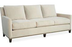 Lee 1296-03  Sofa    Overall: W84 D36 H34  Inside: W71 D22 H16  Seat Height: 17 Arm Height: 23 Back Rail Height: 34