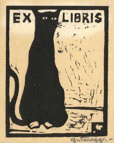 Ex libris by Otto Maria Miethke-Gutenegg (1881-1922)