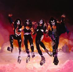 """The original """"brown"""" album cover for Kiss """"Destroyer""""."""