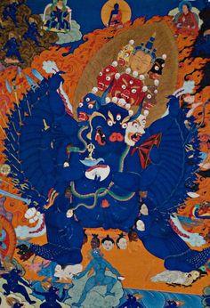 "Himalayan Art: ""Buddhist deity ""Vajrabhairava"" doing his war dance."""