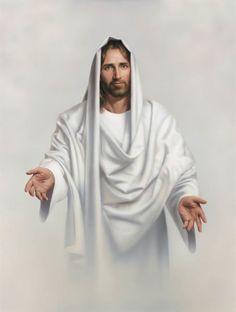 "~Jesus~ ""Abide With Me"" painting by Simon Dewey. Jesus Christ inspires me. Images Du Christ, Pictures Of Jesus Christ, Bible Images, Image Jesus, Lds Art, Happy Easter Everyone, Jesus Christus, Jesus Is Lord, King Jesus"