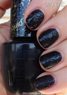 Emotions is a black base with black glitter.