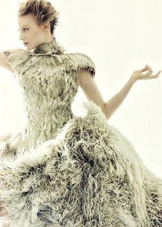 Actress Mia Wasikowska in Alexander McQueen... incredible fashion design.