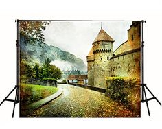 Horizontal Version Wedding Background Old Village with Castle for Thcik Frabic Castle Backdrop, Indoor Shooting, Building Stone, Wedding Background, Background For Photography, Photo Backgrounds, Wedding Shoot, Custom Photo, Digital Photography
