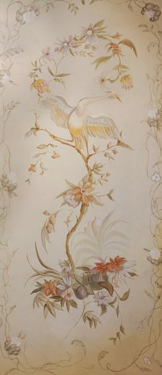 """Zoë Design: Day 79 ~ Wallpaper-a-day """"Lilly"""" (French Panels) #WallCoverings #InteriorDesign"""