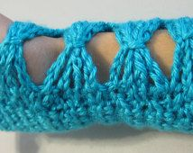 Crochet PATTERN Fingerless Gloves - Diamonds and Bows