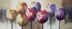 Schilderij tulpen 50x120