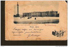St. Petersbourg Peterburg - Palais d´hiver avec colonne d´ Alexandre - 1903 - printed Dresden - Berlin