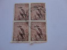 Set of four 6.D Australia Postage Stamp.