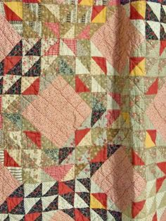 Antique Quilt Handmade Star of Bethlehem or Harvest Star Mid Cotton Fabric Old Quilts, Antique Quilts, Scrappy Quilts, Vintage Quilts, Hand Quilting, Machine Quilting, Primitive Quilts, Patch Quilt, Quilting Designs