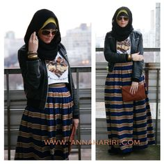 Anna Hariri #Hijab designs ❤ hijab style