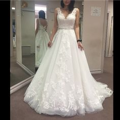 Maggie Sottero Sybil wedding ivory gown! GORGEOUS A line Maggie Sottero gown. Absolutely breath taking. Size 6. . The fit and long tail is perfect! Feel free to ask any questions. The dress will be available in August for sale. The dress has not been hemmed or tailored. Maggie sottero Dresses Wedding