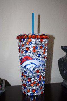 Denver Broncos Bling Tumbler by SparkledIntentions on Etsy,