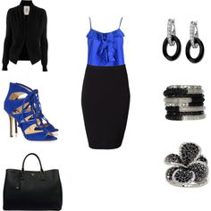 Office Blues, created by lawrie89 on Polyvore
