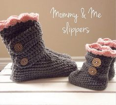 Crochet Boots for Women, US sizes Small to Extra Large-Crochet Dreamz Woman's Slipper Boots Crochet Crochet Boots Pattern, Crochet Slipper Boots, Crochet Baby Booties, Crochet Slippers, Crochet Patterns, Crochet Ideas, Kids Patterns, Kids Slippers, Womens Slippers