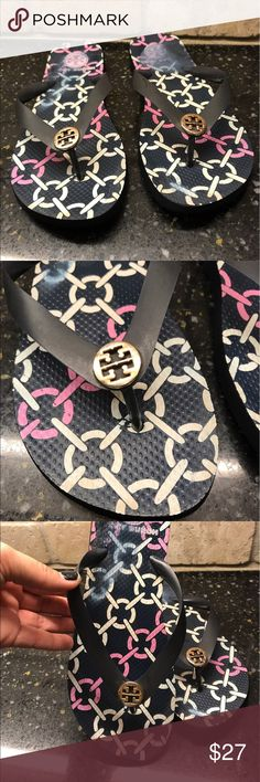 Tory Burch Flipflops! Nice condition Tory flip flops! See pics for details;) Tory Burch Shoes Sandals