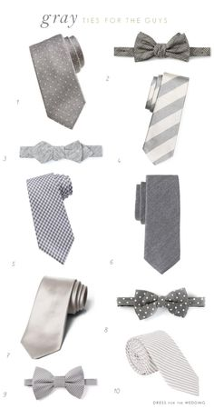 stylish grey ties for grooms! #wellgroomed via @Dress for the Wedding