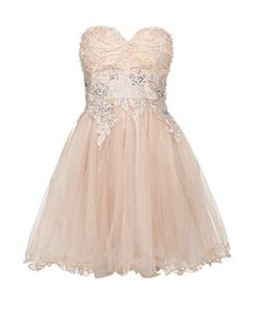 3b60a0856f Chi Chi Cream Rose Embroidered Prom Dress found on Polyvore Cream Prom  Dresses
