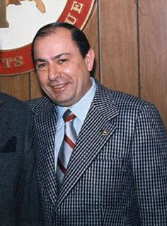 Joe Colombo (1923 - 1978) Boss of the Colombo organized crime family in New York City, he was shot (in a mob-sponsored hit) while leading a demonstration protesting stereotyping of Italian-Americans as mafia members, was in a vegetative state for seven years before finally dying