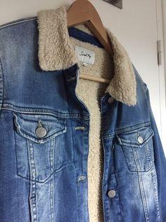 Veste en jean fourrée et doublée coton Jamais portée