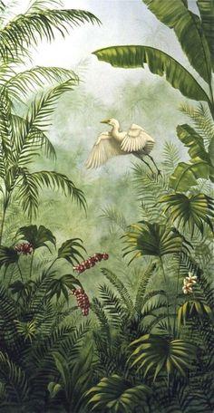 Wall mural : Love the detail on the plant Fototapete: Liebe das Detail an der Pflanze Jungle Art, Jungle Drawing, Wall Murals, Wall Art, Tropical Art, Tropical Paintings, Tropical Interior, Tropical Forest, Tropical Garden