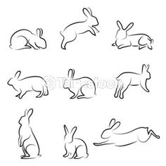 bunny line drawing - maybe for summer's room