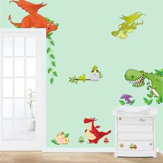 dinosaur wall art home decorations animal stickers kids room cartoon pegatinas adesivo parede children wall decals zooyoocd002 | Price: US $2.23 | http://www.bestali.com/goto/32310656568/10