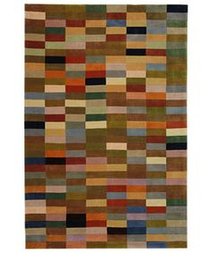 Handmade Rodeo Drive Patchwork Multicolor N.Z. Wool Rug (5' x 8')  $188.99