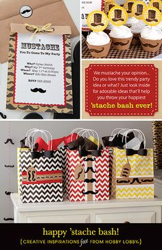 Do you love this trendy party idea or what? Try these adorable ideas that'll help you throw your happiest 'stache bash ever! Party In A Box, Party Kit, I Party, Moustache Party, Moustache Ride, Mustache, Fun Party Themes, Party Ideas, Little Man Party