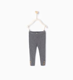 Knit leggings-Skirts and trousers-Baby girl-Baby | 3 months - 3 years-KIDS | ZARA United States