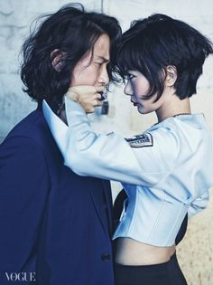 Song Sae Byeok and Bae Doona for Vogue Korea