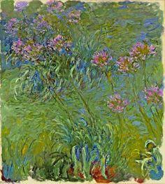 Agapanthus, 1917 por Claude Monet (1840-1926, France)