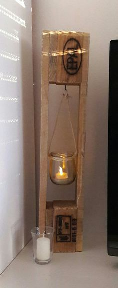 Deko Teelicht aus Paletten (Diy Decoracion Madera)