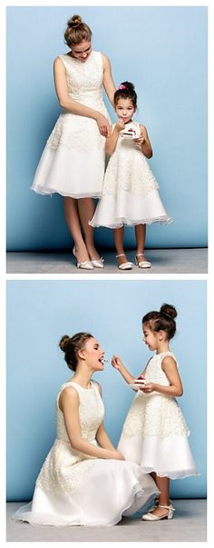 Petite A-line Jewel Knee-length Lace dress for Mom & daughter. Love this cute set for your guys' night out together? Get it in our Christmas sales deal right now! Lightning Deals will got your amazed! Exciting Deals of the Day, and savings on your wallet.
