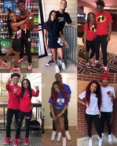 Cute Black Couples, Black Couples Goals, Cute Couples Goals, Couple Goals, Football Relationship Goals, Black Relationship Goals, Matching Couple Outfits, Matching Couples, Bae Goals