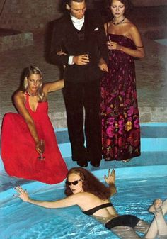 Grace Coddington by Helmut Newton, Vogue UK, October 1973